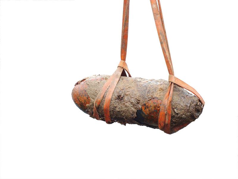 Transportfähige Bomben ohne Zünder kann Bitek selbst bergen. Foto: