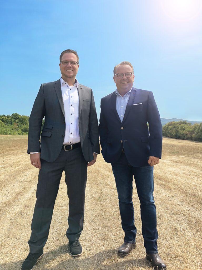 Projektleiter Björn Nahler (li.) und Geschäftsführer Ralf Klar Foto: wesmartify GmbH