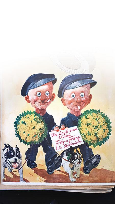 Für diese beiden hatte Remarque etwas übrig: Fritz und Franz, die Conti-Buben. Repro Pohlmann