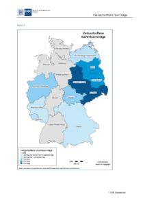 Quelle: Landesladenschlussgesetze bzw. Landesladenöffnungsgesetze; eigene Recherche und Darstellung IHK Hannover