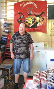 Michael Walter, Pächter der Classic-Tankstelle in Linsburg