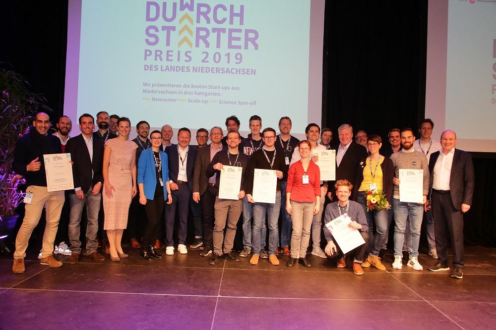 Preisträger des niedersächsischen Gründerwettbewerbs.