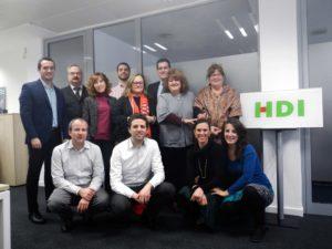 Pedro Pancorbo Parras und seine Kolleginnen und Kollegen in Madrid: Foto. HDI Global SE.